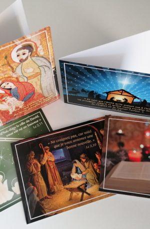 5 cartes de vœux Noël avec enveloppes